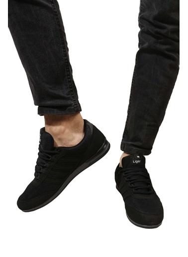 Derigo Siyah Füme Erkek Spor Ayakkabı 703018 Siyah